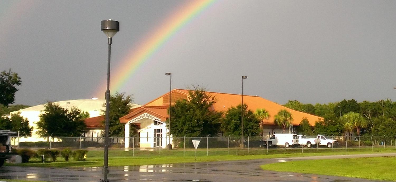 Rainbow over Cypress Creek IEM Building
