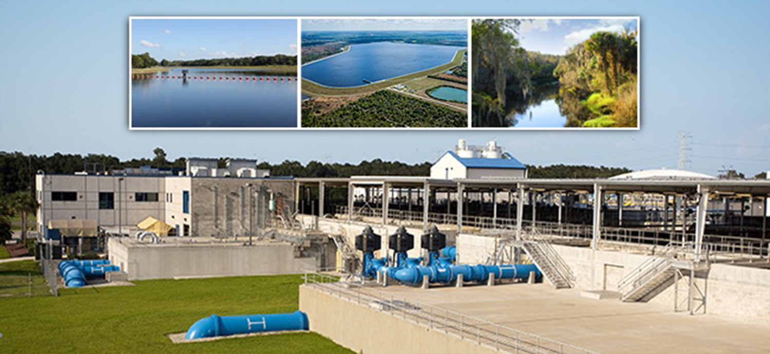 Surface Water Treatment Plant with insets of surface water system