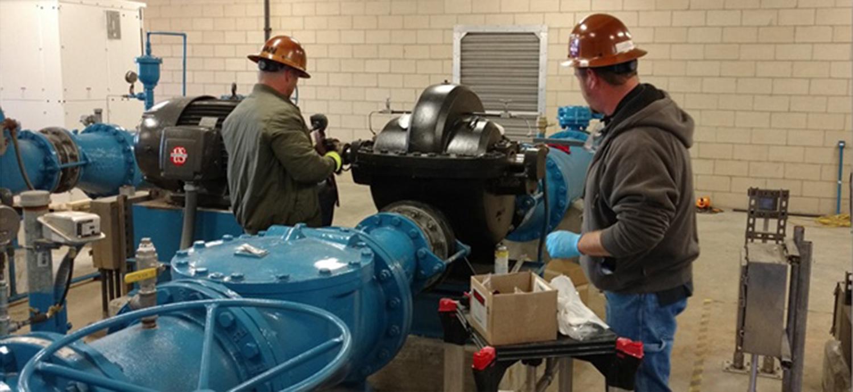 Men Working in Pump Station