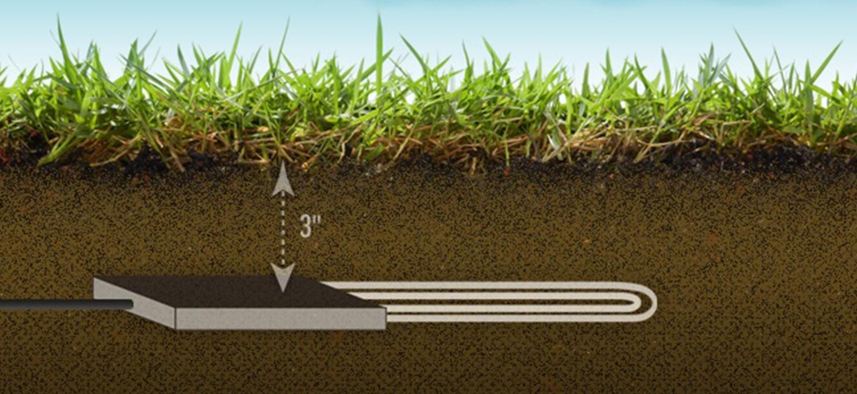 Diagram of soil sensor under ground
