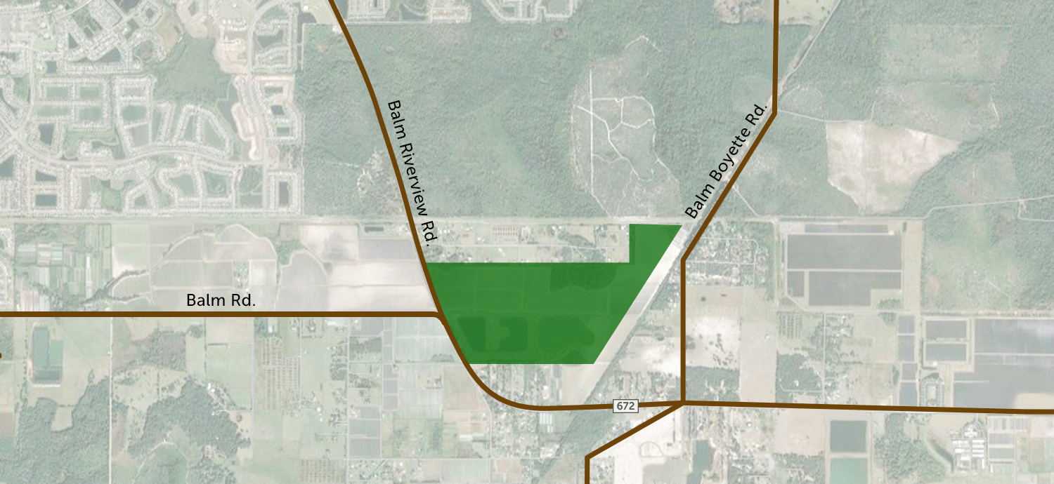 Map showing South Hillsborough County point of connection location