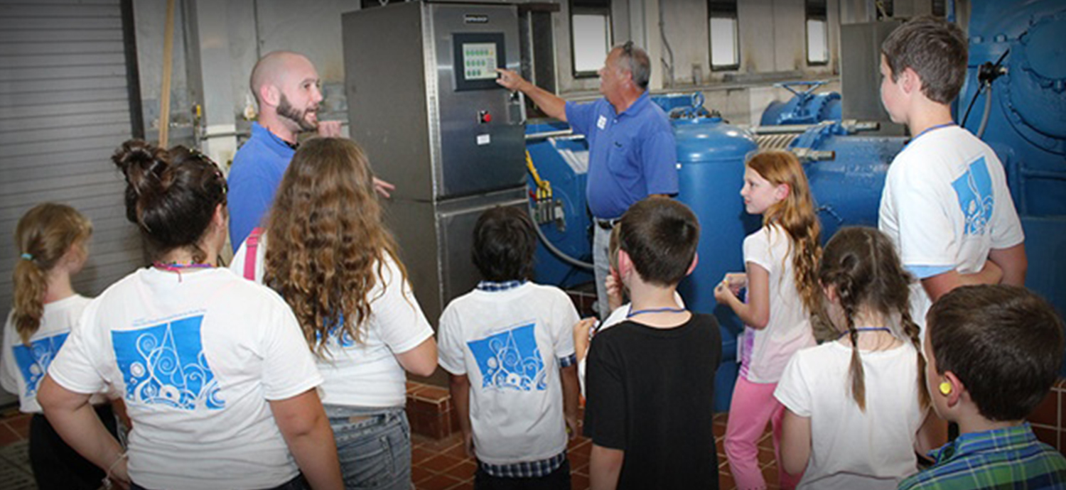 Students on a facility tour