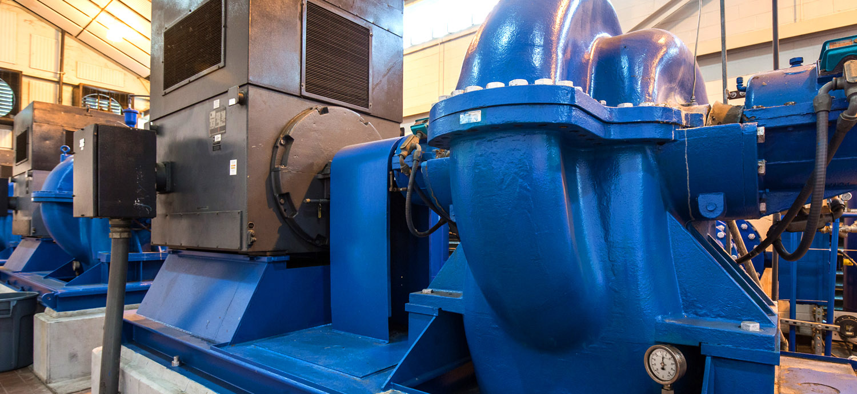 Pumps at high service pump station