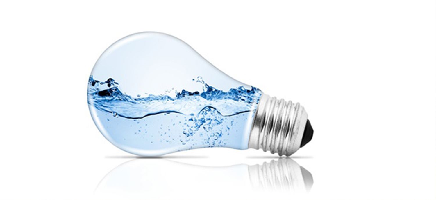 Lightbulb filled with water