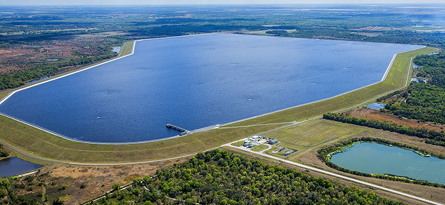 Aerial view of CW Bill Young Regional Reservoir